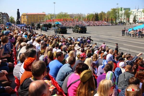 В прошлом году на параде были заполнены все трибуны