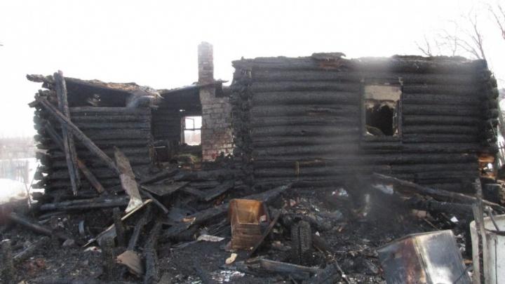 В башкирском селе дотла сгорел дом