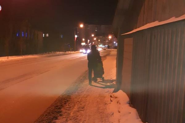 Сейчас пешеходный переход по улице Карельцева не оборудован перильными ограждениями