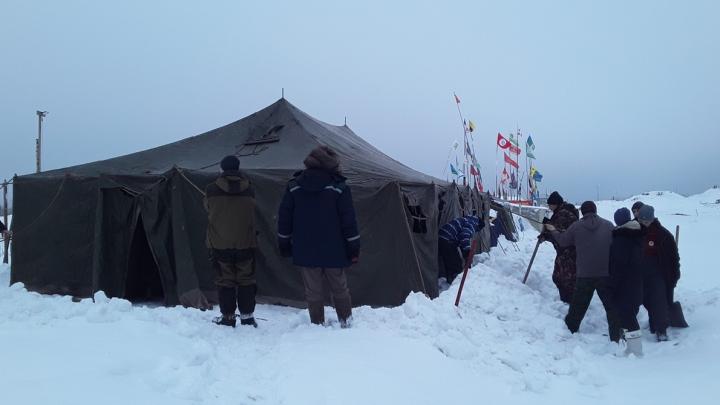 На Шиесе новый дом: активисты опубликовали видео присланной с Дальнего Востока огромной палатки