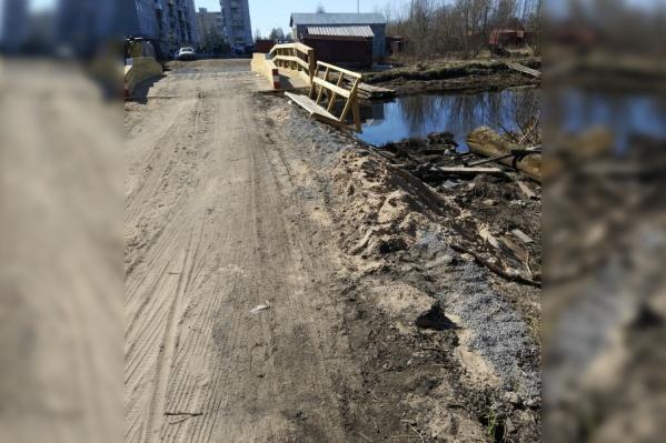 Весной жители Маймаксы остались недовольны состоянием моста