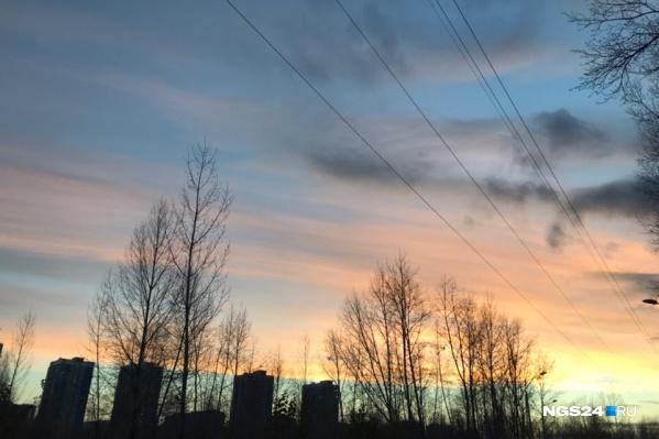 Потепление приходит в Красноярск с сегодняшнего дня