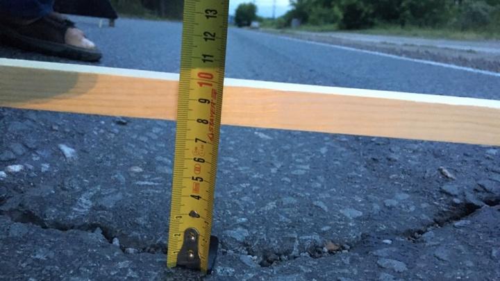 Мэрия поставит на дороге с глубокой колеёй знак «Неровная дорога» — ремонта придётся ждать долго