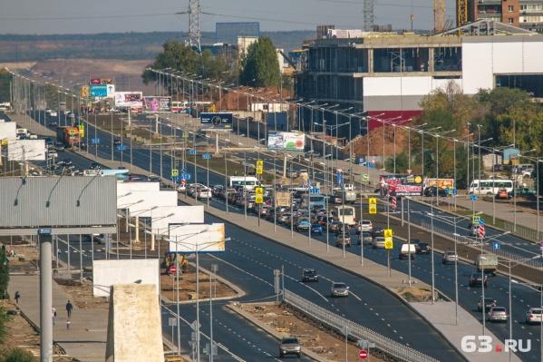 Реконструкцию Московского шоссе завершили в 2017 году