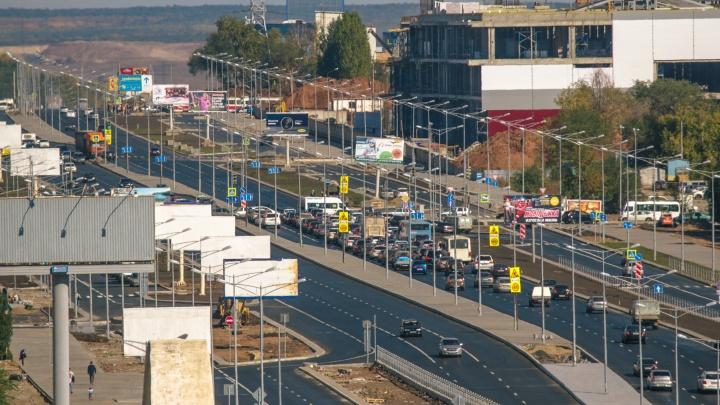 Пошли войной за Московское шоссе: власти хотят судиться за пробки на главной магистрали Самары