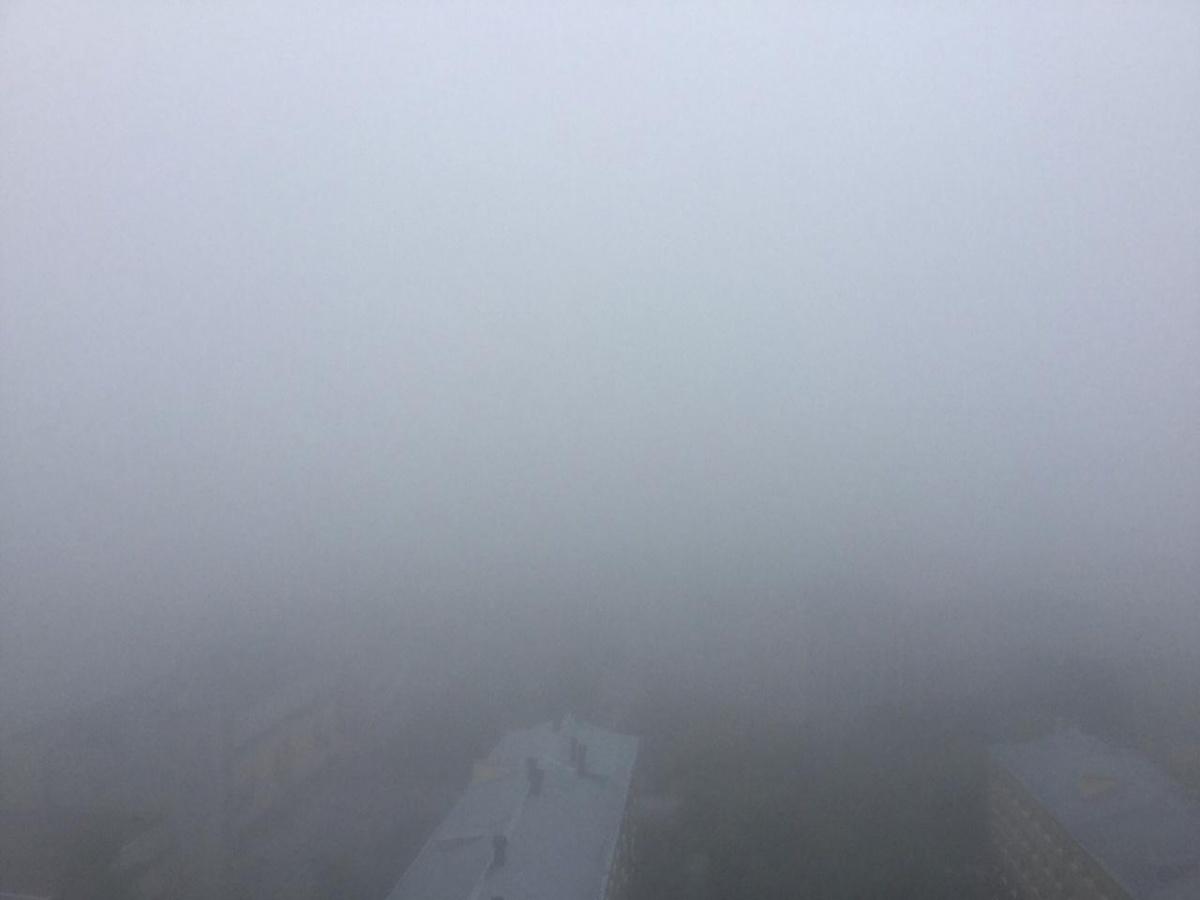 Вид на центр города с 15-го этажа, район Заречный, УрГУПС