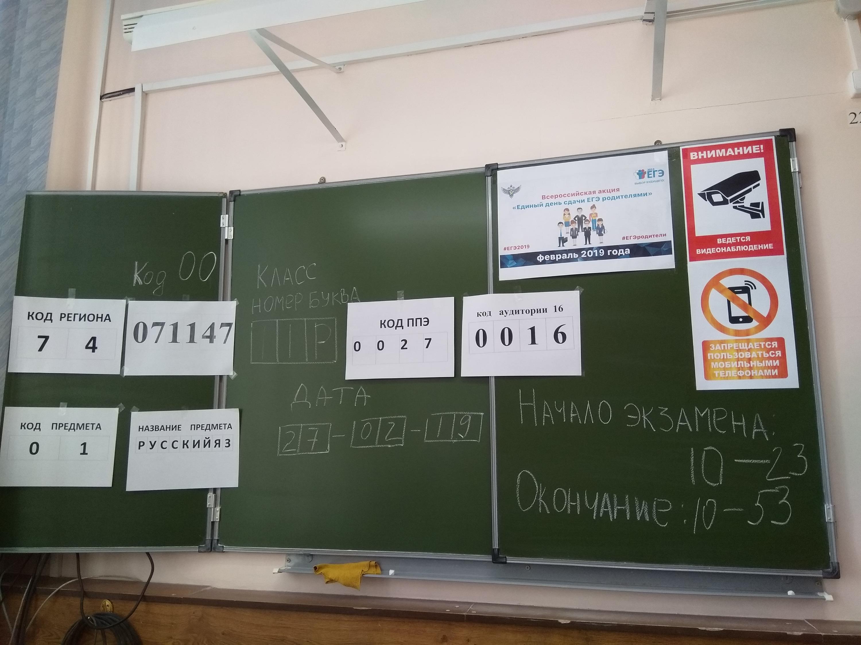 В классе, где сдают ЕГЭ, ведётся видеонаблюдение