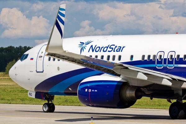 Boeing 737 авиакомпанииNordStar в аэропорту Толмачёво