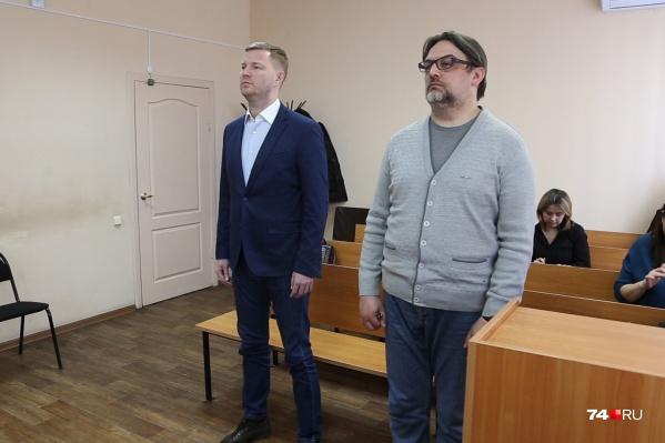 Бывший замминистра экономики Антон Бахаев (слева) и директор рекламной фирмы «Элефант» Михаил Смирнов (справа)