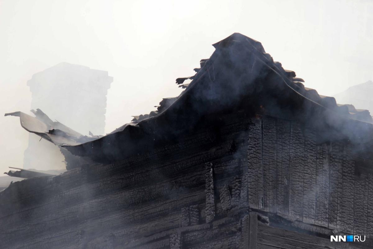 Парень умер впожаре вгороде Павлово Нижегородской области 13ноября