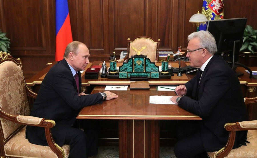 Путин обсудил сврио руководителя Красноярского края развитие высокоскоростного транспорта