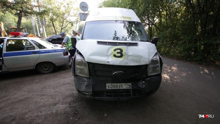 В ДТП «паровозиком» с маршруткой, такси и «Порше» в Челябинске пострадали шесть человек