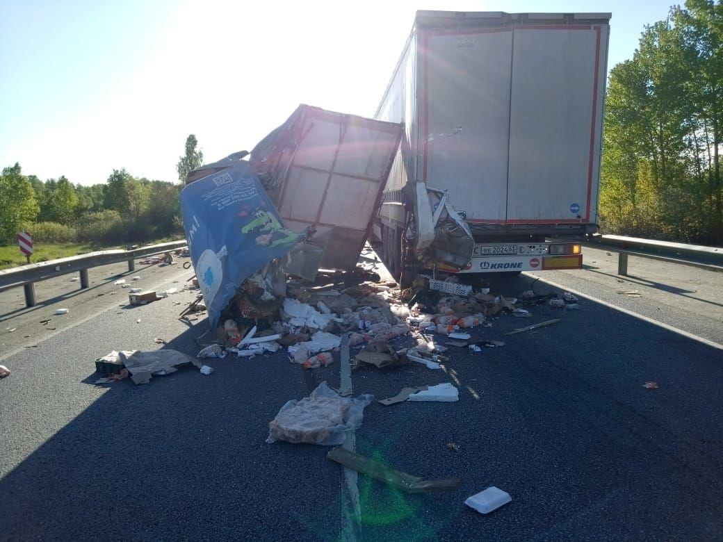 Водитель «Газели» не успел затормозить на участке, где было реверсивное движение из-за ремонта трассы