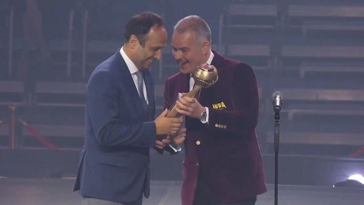 В Екатеринбурге вручили премию лучшему боксеру года, им стал украинец Александр Усик