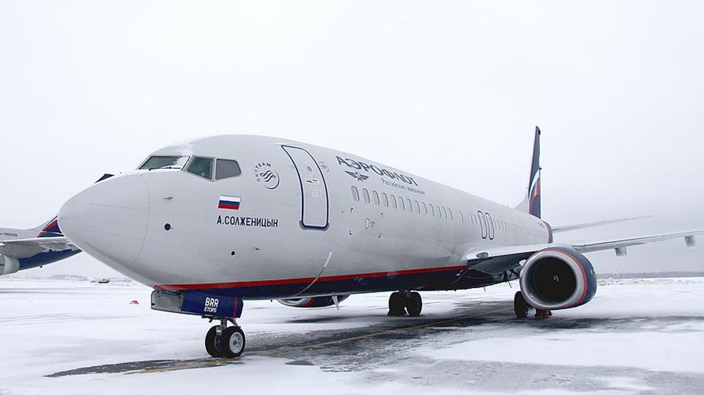 Это тот самый борт «Аэрофлота» Boeing 737-8LJимени Александра Солженицына