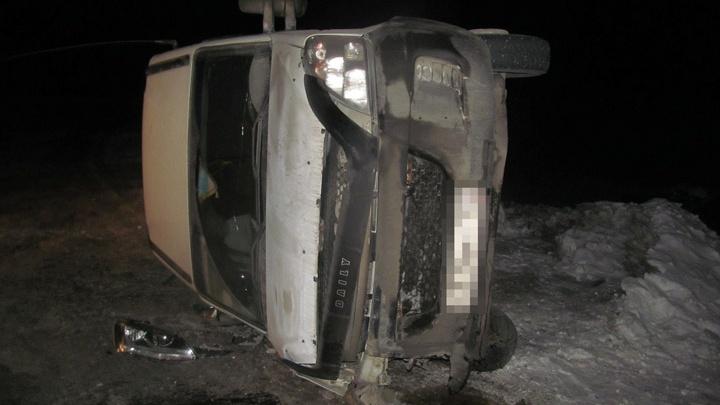 На севере Башкирии пьяный лихач протаранил автобус
