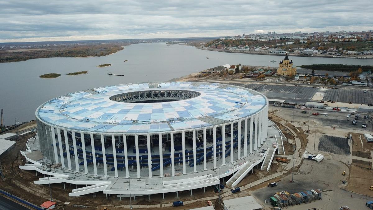 Настадионе «Волгоград Арена» начали прошивку газона