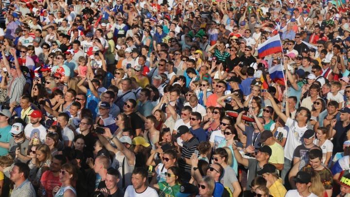 В самарской фан-зоне абоненты МегаФона измерили успех россиян терабайтами трафика