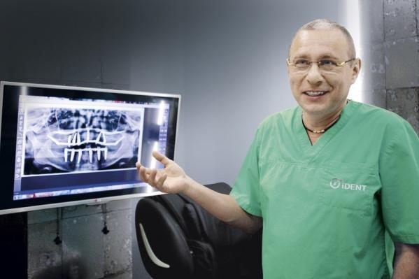 """Михаил Тодер, хирург-имплантолог, главный врач <a href=""""http://ident-implant.ru/"""" class=""""io-leave-page _"""" target=""""_blank"""" rel=""""sponsored"""">Международного центра имплантологии iDent</a>: «Имплантацию и тот тип конструкции, протезирования, которые мы выполняем, можно со всей уверенностью назвать бессрочными»"""