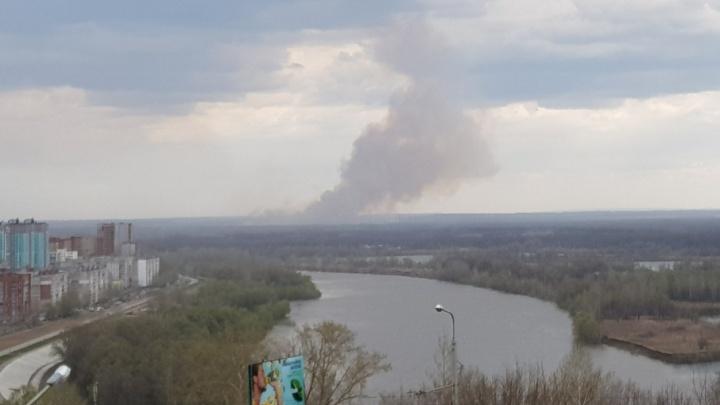 Уфимцев напугал черный дым над городом