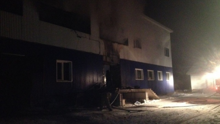 Огонь уничтожил рыбный цех в Башкирии