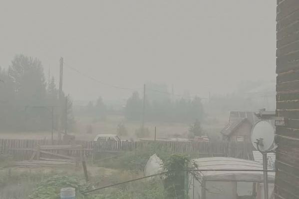 Так выглядит посёлок Ванавара в 15 км от пожара