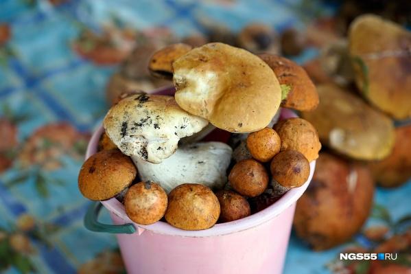Белые грибы и подосиновики на Центральном рынке стоят 350 руб.