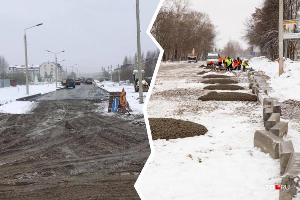 Капремонт на Красноборской улице и Тутаевском шоссе затянулся дольше сроков