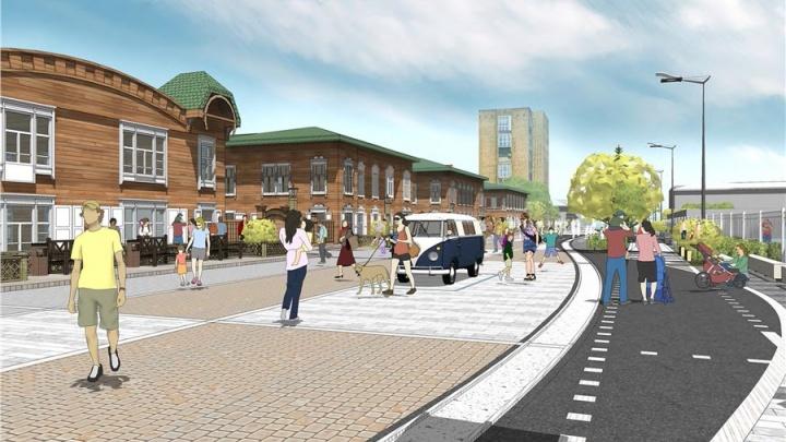 Выбрана компания для создания пешеходного квартала на Горького рядом с парком