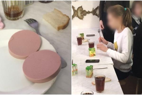 По словам руководства школы, повар дала детям на обед бутерброды с колбасой, потому что не смогла нормально сварить вареники детям на обед