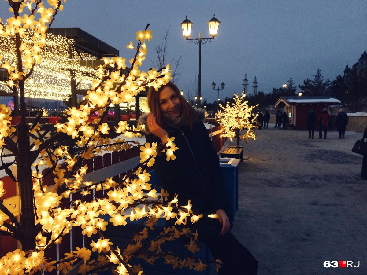 Набережная Казани круглый год украшена иллюминацией