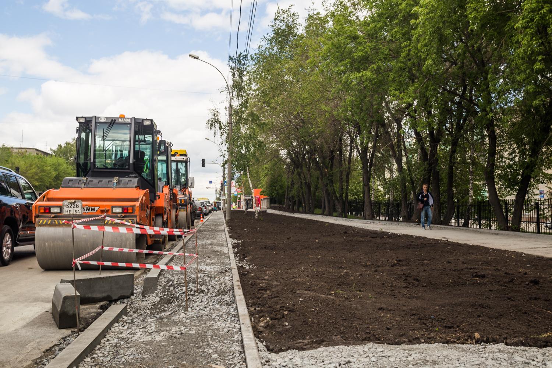 Ремонт дороги на ул. Немировича-Данченко в районе областной больницы
