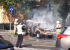 В самом центре Екатеринбурга на ходу загорелся внедорожник