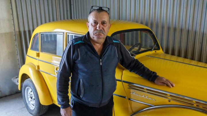 «Желтый, как солнце»: волгоградец восстановил 65-летний «Москвич»