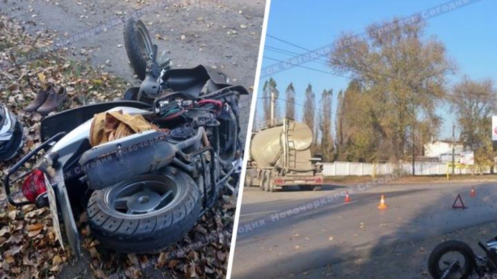 Водитель скутера серьезно пострадал в двойном ДТП в Новочеркасске
