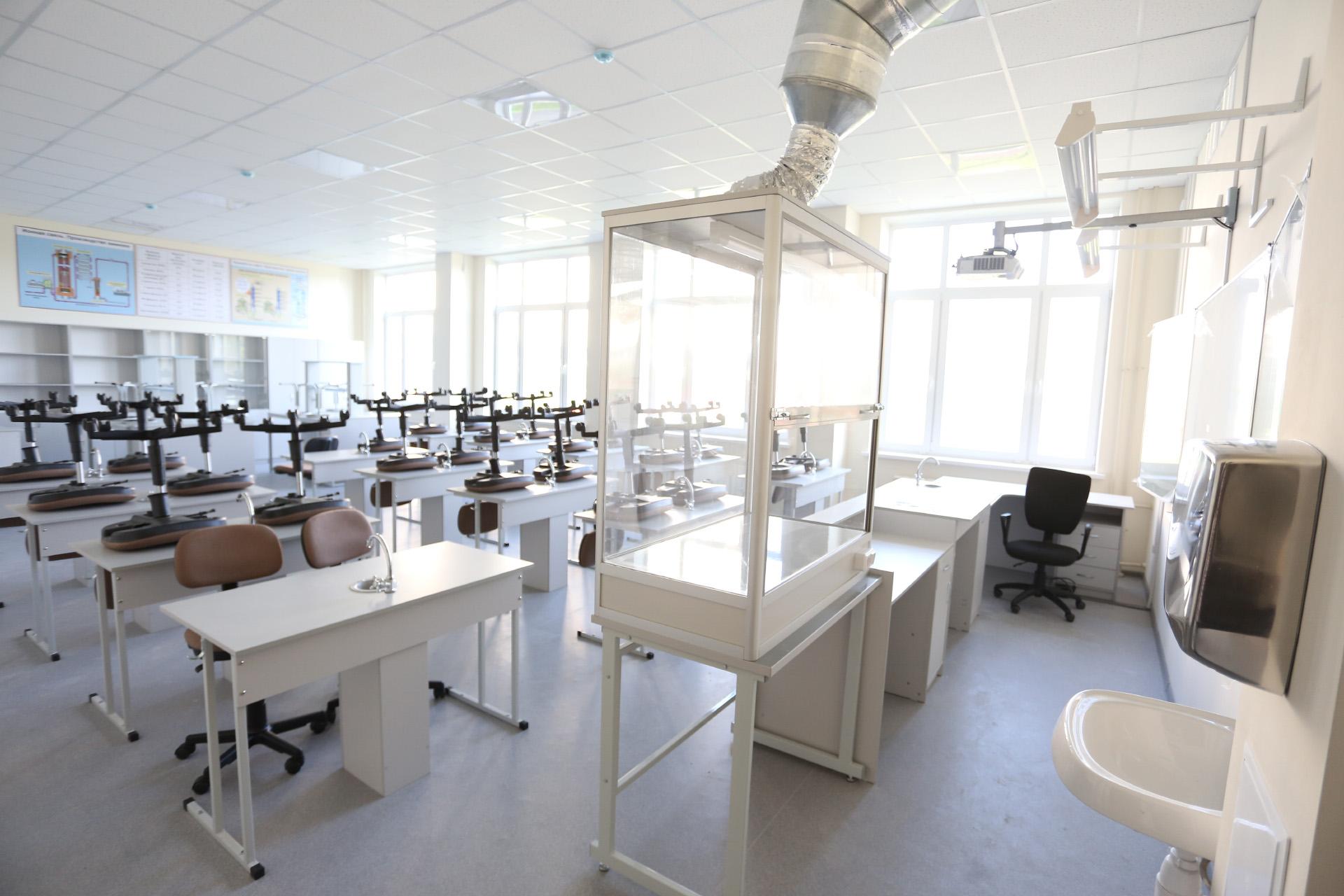 В кабинете химии школьники будут проводить опыты