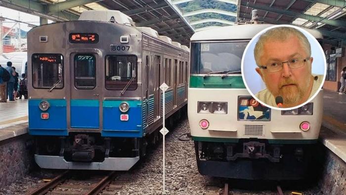 В Японии можно встретить поезда разных типов