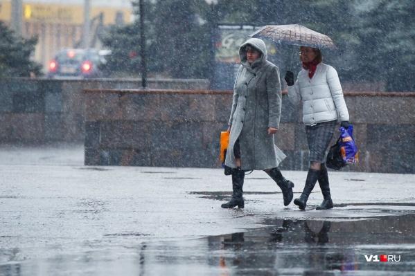 Мокрый снег и дожди придут в Волгоградскую область на все выходные