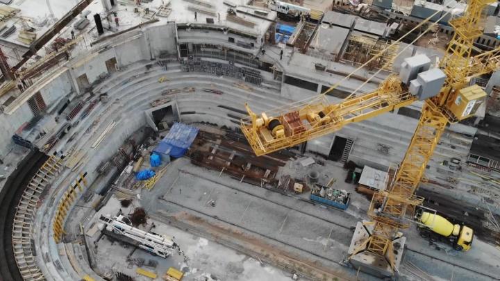 Самарский видеоблогер снял с высоты строительство нового Дворца спорта на Молодогвардейской