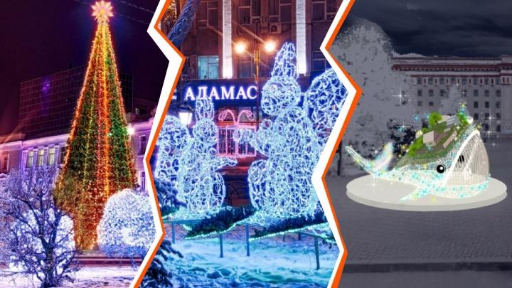 Огромная рыба-кит и ледовый городок по сказкам Ершова: смотрим, как украсят Тюмень к Новому году