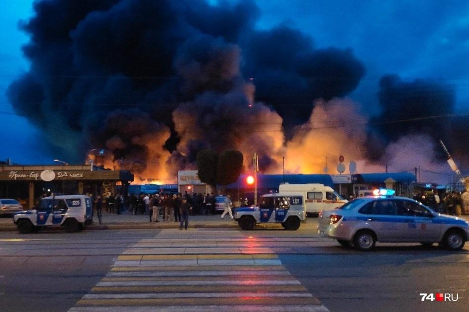 Cháy chợ ở thành phố Magnitogorsk, Nga, không có người Việt thương vong