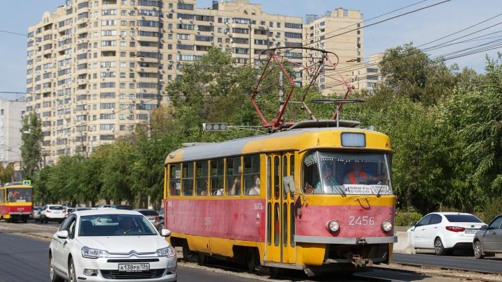 В Волгограде встали трамваи из-за аварии на электросетях