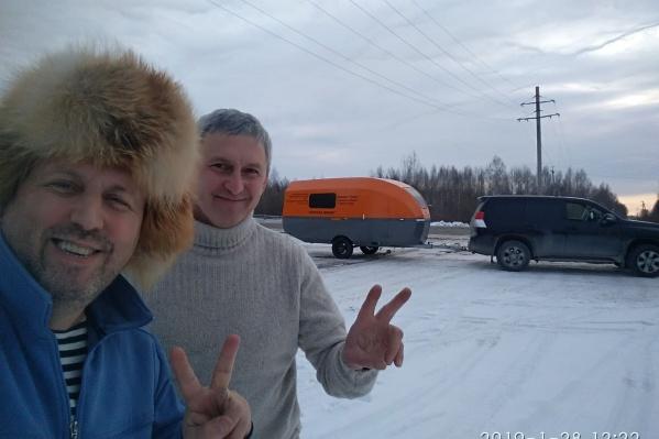 В дороге Виктор Ворошилов встретился с единомышленником — ИльясомАбдуллиным