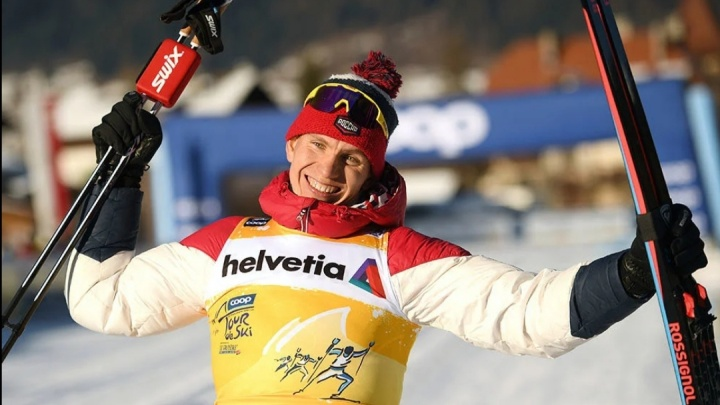 Александр Большунов из Архангельской области победил на лыжном турнире «Тур де Ски»