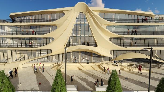 Необычный дом построят между 9-этажками и частным сектором