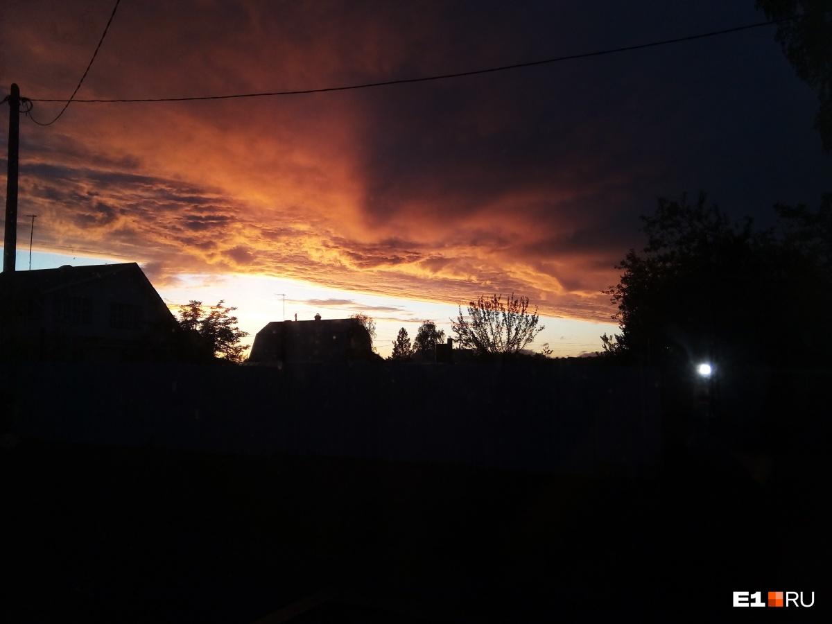 Закат в посёлке Кедровка
