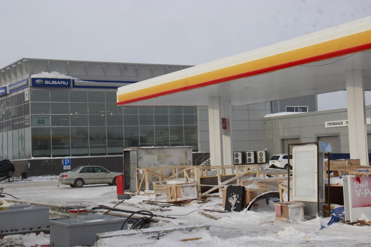 Первая заправка Shell появится на улице Станционной — на подъезде к Экспоцентру