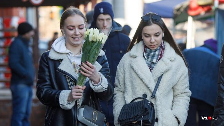 В Международный женский день в Волгоградской области ожидается +9 при сильном ветре