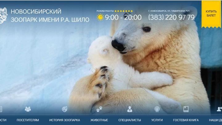 Новосибирский зоопарк запустил новый сайт за 750 тысяч