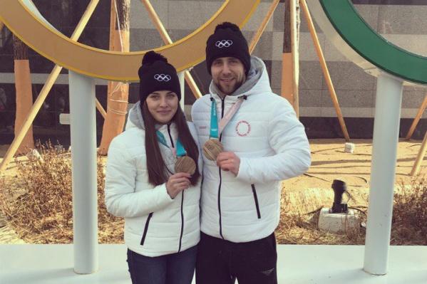 На Олимпиаде в Южной Корее Александр Крушельницкий выиграл бронзу в паре с Анастасией Брызгаловой в дабл-миксте